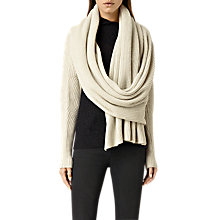 Buy AllSaints Quinta Wrap, Porcelain Online at johnlewis.com