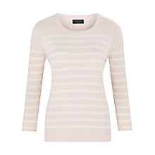 Buy Viyella Petite Stripe Jumper, Pale Pink Online at johnlewis.com