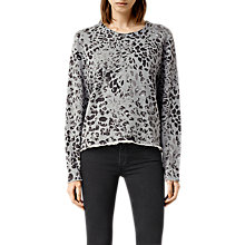 Buy AllSaints Mangla Isola Jumper, Stone Grey Online at johnlewis.com