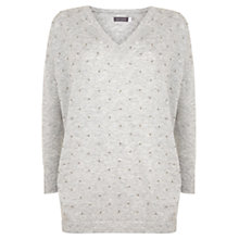 Buy Mint Velvet Bead Detail Jumper, Grey Online at johnlewis.com