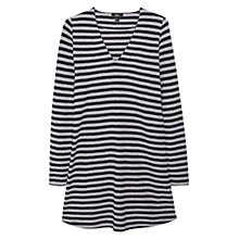 Buy Mango Striped Cotton Dress, Medium Grey Online at johnlewis.com