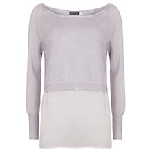 Buy Mint Velvet Shirt Tail Knitted Top, Purple Mist Online at johnlewis.com
