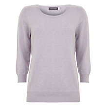 Buy Mint Velvet 3/4 Crew Neck Jumper, Purple Online at johnlewis.com