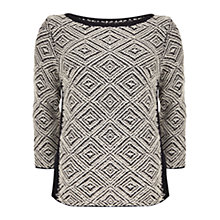 Buy Mint Velvet Zig Zag Jumper, Navy/Ivory Online at johnlewis.com