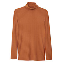 Buy Mango Textured Roll Neck Top Online at johnlewis.com