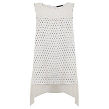 Buy Mint Velvet Longline Tunic, Multi White Online at johnlewis.com