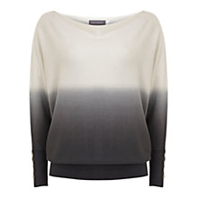 Buy Mint Velvet Ombre Batwing Jumper, Grey/Ivory Online at johnlewis.com