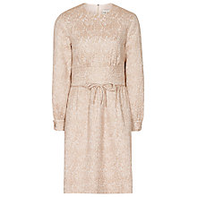 Buy Reiss Melanie Bow Detail Dress, Rose Gold Online at johnlewis.com