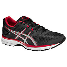 Buy Asics Gel-Galaxy 8 Running Shoes, Dark Grey/Silver Online at johnlewis.com