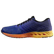 Buy Asics Fuze X Running Shoes, Blue/Black/White Online at johnlewis.com