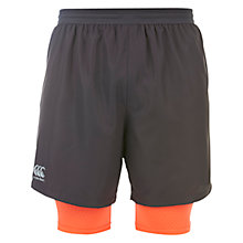 Buy Canterbury of New Zealand 2-in-1 VapoDri Running Shorts, Grey/Orange Online at johnlewis.com