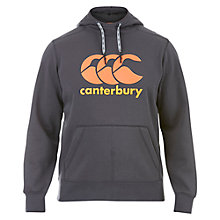 Buy Canterbury of New Zealand Classic Core Logo Hoodie, Grey/Orange Online at johnlewis.com