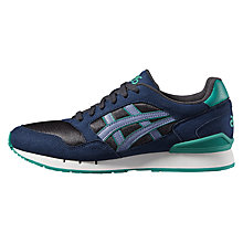 Buy Asics Tiger Gel Suede Men's Trainers, Navy/Green Online at johnlewis.com