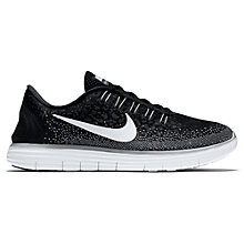 Buy Nike Free RN Distance Women's Running Shoes, Black/White Online at johnlewis.com