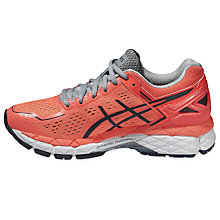 Buy Asics GEL-Kayano 22 Women's Structured Running Shoes, Flash Coral Online at johnlewis.com