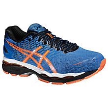 Buy Asics Gel Nimbus 18 Men's Running Shoes, Electric Blue/Hot Orange/Black Online at johnlewis.com