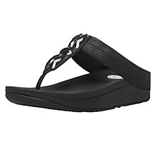 Buy FitFlop Sweetie Imi Leather Sandals, Black Online at johnlewis.com