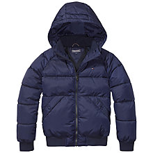 Buy Tommy Hilfiger Boys' Bomber Jacket, Navy Online at johnlewis.com