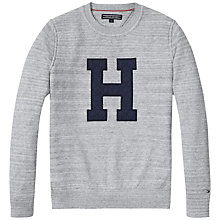 Buy Tommy Hilfiger Cotton Sweatshirt, Grey Online at johnlewis.com