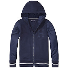 Buy Tommy Hilfiger Boys' Zip Through Hoodie, Navy Online at johnlewis.com