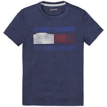 Buy Tommy Hilfiger Boys' Icon Print T-Shirt, Navy Online at johnlewis.com