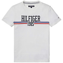 Buy Tommy Hilfiger Icon T-Shirt, White Online at johnlewis.com
