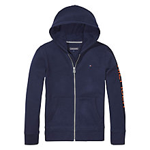 Buy Tommy Hilfiger Boys' Zip Through Hoodie, Blue Online at johnlewis.com