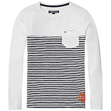 Buy Tommy Hilfiger Boys' Long Sleeve Stripe Top, White/Black Online at johnlewis.com