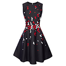 Buy Karen Millen Floral Bead Prom Dress, Black/Multi Online at johnlewis.com