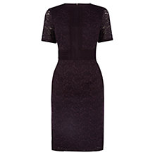 Buy Warehouse Panel Lace Dress, Dark Red Online at johnlewis.com