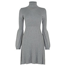 Buy Oasis Cable Polo Dress, Mid Grey Online at johnlewis.com