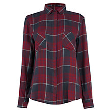 Buy Oasis Check Shirt, Red Online at johnlewis.com
