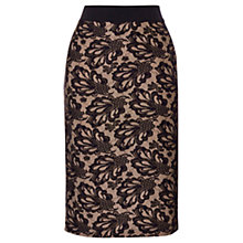 Buy Coast Marbella Lace Skirt, Black/Taupe Online at johnlewis.com