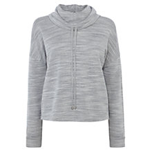 Buy Karen Millen Sporty Jersey Jumper, Pale Grey Online at johnlewis.com