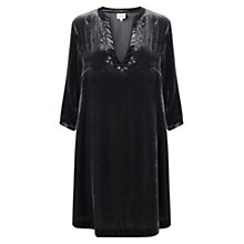 Buy East Beaded Velvet Dress, Slate Online at johnlewis.com