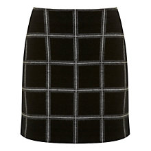 Buy Miss Selfridge Check A-Line Skirt, Multi Online at johnlewis.com