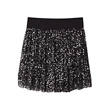 Buy Mango Sequin Skirt, Black Online at johnlewis.com