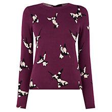 Buy Oasis Honeybird Jumper, Burgundy Online at johnlewis.com