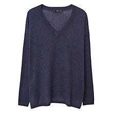 Buy Mango Cotton-Blend Side Slit Jumper Online at johnlewis.com