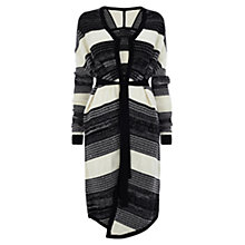 Buy Karen Millen Tweed Chunky Stripe Cardigan, Multi Online at johnlewis.com
