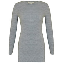 Buy Miss Selfridge Side Split Tunic Jumper, Light Grey Online at johnlewis.com