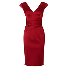 Buy Karen Millen Signature Satin Dress, Red Online at johnlewis.com