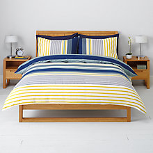 Buy John Lewis Max Duvet Cover and Pillowcase Set, Blue Online at johnlewis.com