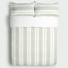 Buy John Lewis Check & Stripe Twin Pack Duvet Cover and Pillowcase Set Online at johnlewis.com