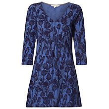 Buy White Stuff Redwood Jersey Tunic Top, Iris Blue Online at johnlewis.com