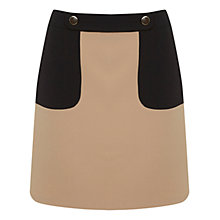Buy Miss Selfridge Colour Block Button Mini Skirt, Multi Online at johnlewis.com