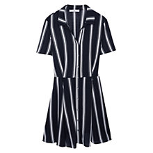 Buy Mango Cut Out Striped Dress, Natural White Online at johnlewis.com