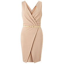 Buy Miss Selfridge Wrap Pencil Dress, Camel Online at johnlewis.com