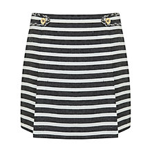 Buy Miss Selfridge Striped Boucle Mini Skirt, Multi Online at johnlewis.com