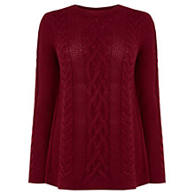 Buy Oasis Split Side Phoebe Jumper, Rich Red Online at johnlewis.com